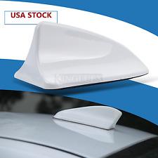 NEW White Universal Car Roof Radio AM/FM SignalShark Fin Style Aerial Antenna US