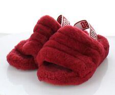 31-36  $110 Women's Sz 8 M Ugg Fluff Yeah Genuine Shearling Slide Sandal