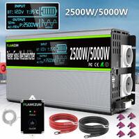 2500W/5000W Reiner Sinus Spannungswandler Wechselrichter 12V 230V Auto LCD USB