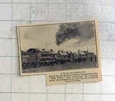 1925 Trial Of Locomotive Strength At Eastleigh, King Arthur Class Head-to-head