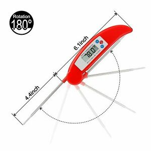 Cooking Thermometer Digital Food Meat BBQ Grill Smoker Instant Read For Kitchen