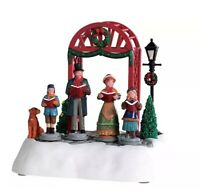 Lemax VICTORIAN CHRISTMAS CAROLERS Man Woman Snow Village Lighted Animated NEW