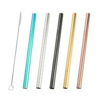 6 pcs Stirring Straws Stainless Steel Drinking Straw Stirrer for Frozen Drinks
