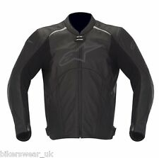 Alpinestars Avant Black LeatherJacket Perforated Summer jacket Size EU 44 UK 34