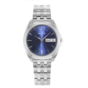 Bulova - Blue Dial, Stainless Steel Men's Watch - 96C129
