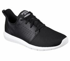 SKECHERS Men's Foreflex lace up walking and training sneaker in Black/White