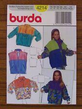 BURDA - 4214 GIRL'S JUMPER VEST ZIP FRONT JACKET 6 8 10 12 14 jun 16 jun UNCUT