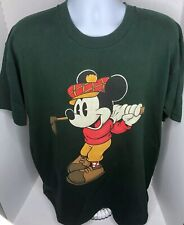 Vintage Single Stitch Mickey & Co Mickey Mouse Golfing T-shirt Mens Green