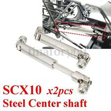 2X Steel Center Drive Shaft For Axial SCX10 1:10 RC Car Crawler Speed 110-155mm
