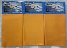 Handy Shammy Reusable 3 Pack Super Absorbent Cleaning Cloth Towels 20 x 1 New