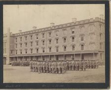 ALBUMEN PRINT OF WEST POINT ACADEMY CADETS GOING TO MESS -SIGNED PACH, N.Y.