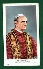 Santino Antico  Papa Paolo VI  IMAGE PIEUSE - HOLY CARD SANTINI