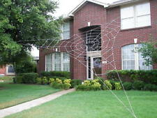 30' BERMUDA Rope Spider Web GIANT Halloween House Yard Prop Decoration