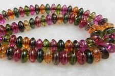 5x8mm Multicolor Tourmaline Abacus Loose Bead 15''