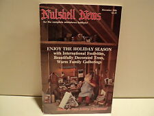 Nutshell News Doll Dollhouse Magazine December 1986 RARE