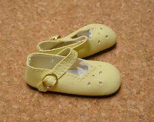 "Doll Shoes, SLIM*  58mm YELLOW Girl Dressy - fits 14"" Kish"