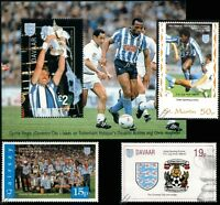 COVENTRY CITY FA CUP Winners 1986-1987 Football Stamps (Kilkline/Cyrille Regis)