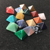 7PCS Chakra Pyramid Stone Set Crystal Healing Wicca Natural Spirituality Lot