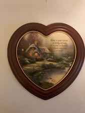 New ListingThomas Kinkade Heart-Shaped Plaque Home Sweet Home Limited Edition