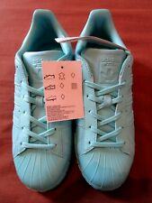 Ladies adidas Originals Superstar Gloss Shell Toe Size 6 Eu39 Aqua Blue Lace