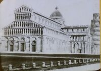 Cathedral of Pisa, Italy (Part of the Leaning Tower), Magic Lantern Glass Slide