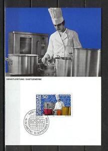 Maxi Card B05 Liechtenstein 1984 People Jobs Service restaurant industry