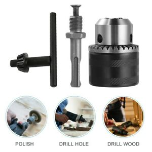 Heavy Duty Drill Chuck 3- 16mm 1/2-20 UNF SDS Adapter With Key