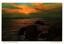 Cornwall - Land's End, Sunset - Postcard Franked 1970