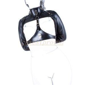 PU Leather Straightjacket Armbinder Adjustable Body Harness Restraint Bondage SM