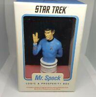 STAR TREK Mr. Spock Logic & Prosperity Box Statue Live Long & Prosper 2013 CBS