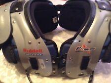 "Riddell Power SPX 30 football shoulder pads Adult large 46-48"" 19-20""  gray blue"