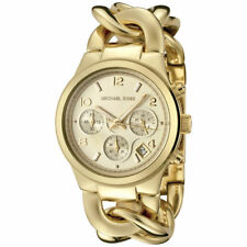 Women's Watch Michael Kors MK3131 Runway Dress Watches Quartz Gold Tone