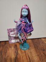 Monster High Kiyomi Haunterley Haunted Doll - Rare Stand, Diary, Purse Mattell