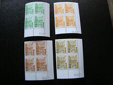 MONACO - timbre yvert et tellier preoblitere n° 50 a 53 x4 n** (Z9) (coin date)