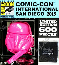 LOUNGEFLY Comic Con Exclusive STAR WARS STORM TROOPER 3D Pink Coin Bag Purse