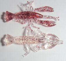 Soft Plastic Yabbie Fishing Lure Prawn Shrimp Yabby Bream, Whiting Flathead Red