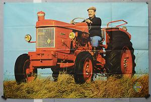 Affiche ancienne originale : Tracteur - RENAULT -Super 5 - 118 x 77 cm
