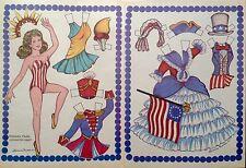 Patriotic Doll Magazine Paper Doll,1987, By Loraine Morris, Uncut