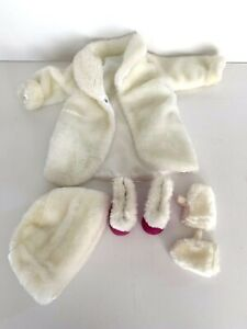 American Girl Doll 6-piece outfit Faux Fur coat, hat, mittens and fur trim boots