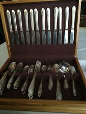 Wm. Rogers Mfng. Co,Original Rogers Lot Of 77 Pc. Silverplated Flatware Chest*