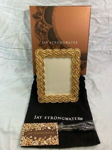 Jay Strongwater gilt picture frame w/ box, bag, screwdriver