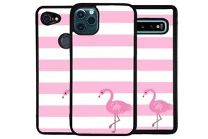 Pink Flamingo Tropical Bird Personalized Phone Case for Apple Samsung LG Google