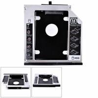 "2.5"" Universal 12.7mm SATA CD/DVD-ROM Optical Bay 2nd Drive Hard HDD Caddy H4K9"