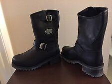 Easyriders Roadware Mens 10M Steele Toe Black Leather Boots NIB Style 2515