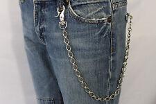 New Men Oval Silver Long Wallet Chain Metal Fashion Jean Key Chain Biker Trucker