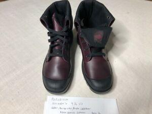 Palladium Burgundy/Purple Leather Boots Womens Size 9 1/2