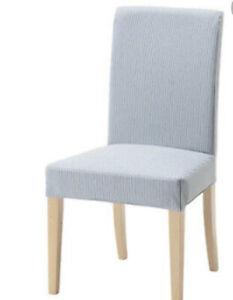 6 Henriksdal Chair Covers in Remvallen Blue/White Stripe 303.347.85