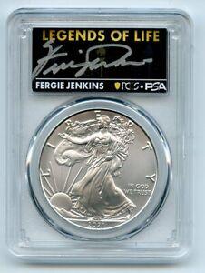 2021 (P) $1 Silver Eagle Emergency T1 PCGS MS70 Legends of Life Fergie Jenkins