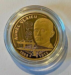 50 bani 2010 Aurel Vlaicu - PROOF, Rumänien, Rumunia, Romania