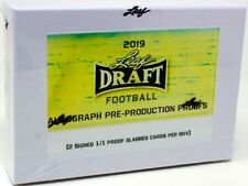 2019 LEAF DRAFT FOOTBALL PRE-PRODUCTION PROOF BOX BLOWOUT CARDS